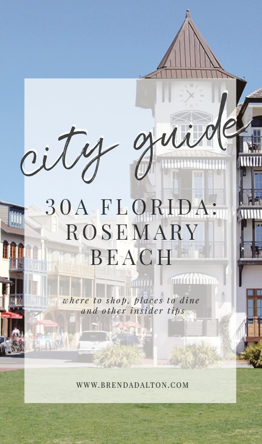City Guide to Rosemary Beach Florida 30A - Places to eat Where to Shop BrendaDaltoncom