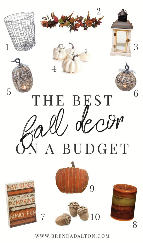 The best fall decor on a budget